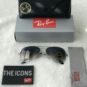 GRADIENT BLUE RAY-BAN AVIATOR 100% AUTHENTIC